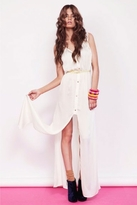 Finders Keepers Coming Home Dress in Ivory