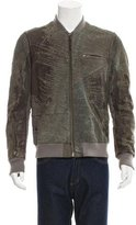 Yigal Azrouel Distressed Leather Bomber Jacket