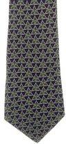 Hermes Pyramid Print Silk Tie