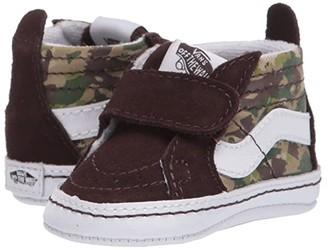 Vans Kids SK8-Hi Crib (Infant/Toddler) ((Animal Camo) Brown/True White) Boys Shoes
