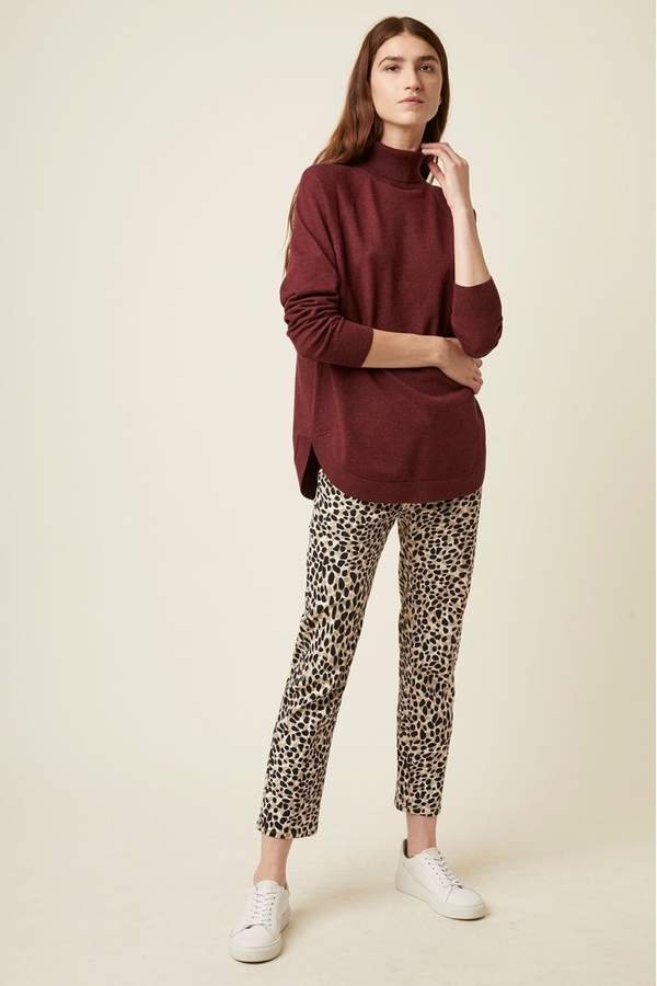 Great Plains Womens Leopard Pearl Denim Trousers - Animal