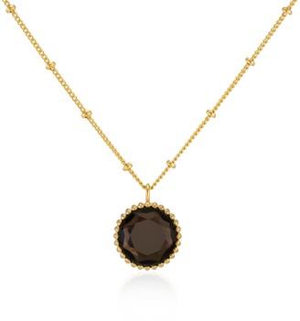 Auree Jewellery Barcelona November Birthstone Necklace Smokey Quartz