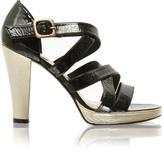 Asos Sienna Miller Premium Strapped Leather Platform Sandal