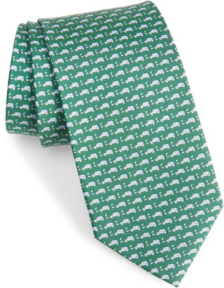 Salvatore Ferragamo Car Silk Tie