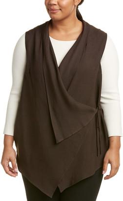 Marina Rinaldi Plus Galleria Linen-Blend Waistcoat