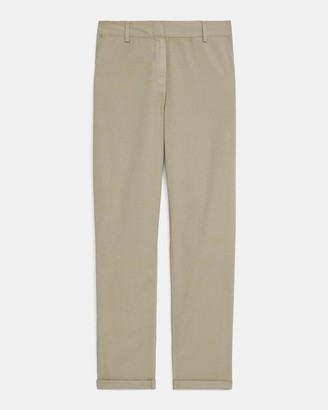Theory Cuffed Treeca Pant in Garment Dyed Cotton