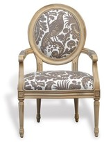 The Well Appointed House Avery Antiqued Ivory Chair with Scalamandre Resist Fabric - Set of 2