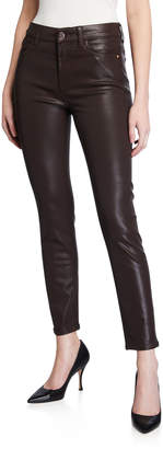 7 For All Mankind Jen7 by Coated Ankle Skinny Jeans