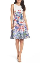 Maggy London Women's Cottage Garden Fit & Flare Dress