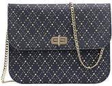Tommy Hilfiger Studded Argyle Turn Lock Pouch