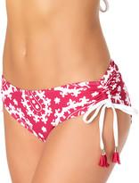 Anne Cole Women's Bikini Bottoms BERY - Berry Paisley Tassel Alex Side-Tie Bikini Bottoms - Women