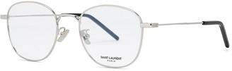 Saint Laurent SL313 Silver-tone Round-frame Optical Glasses