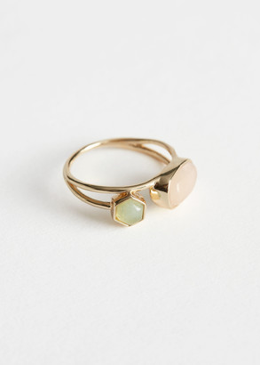 And other stories Duo Stone Pendant Layered Ring