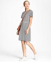 Brooks Brothers Striped Ponte Knit Dress