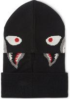 A Bathing Ape Shark motif knitted wool-blend balaclava