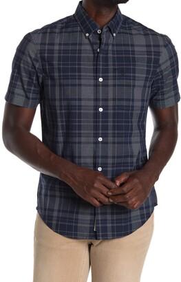 Original Penguin Woven Short Sleeve Plaid Shirt