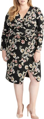 Rachel Roy Floral Long Sleeve Jersey Dress