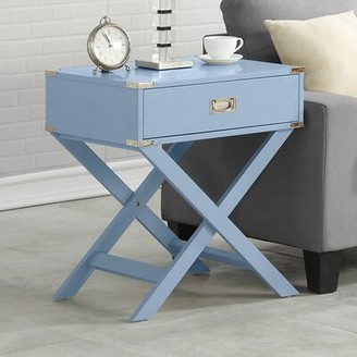 Latitude Run Adorn End Table with Storage Color: Blue