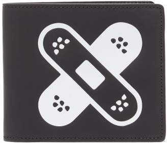 Maison Margiela Four-stitch Logo-patch Leather Wallet - Mens - Black White