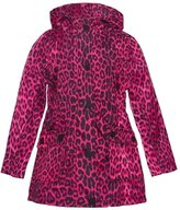 Urban Republic Big Girls Leopard Pattern Pockets Hooded Coat