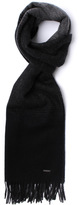 Boss Heroso Black Striped Knitted Scarf