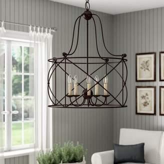 Laurèl Delia 5 - Light Lantern Geometric Chandelier Foundry Modern Farmhouse