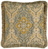 Sweet Dreams European Aquitaine Medallion Sham with Fringe