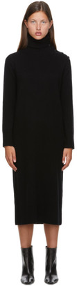 Max Mara Black Wool Musa Turtleneck Dress