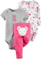 Carter's 3-pc. Mouse Layette Set - Baby Girls newborn-24m
