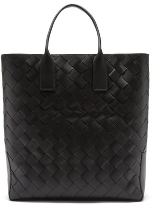 Bottega Veneta Intrecciato Leather Tote Bag - Black