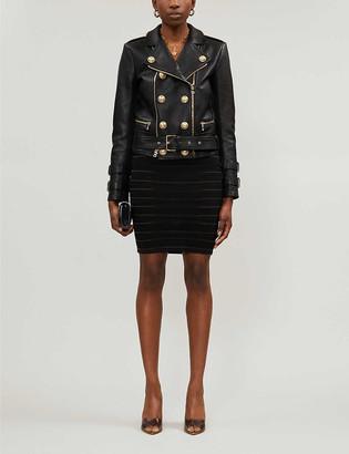 Balmain Double-breasted leather jacket