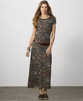 Denim & Supply Ralph Lauren Camo-Print Maxi T-Shirt Dress