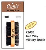 Annie 2 Way Wooden Military Brush #2068, Natural bristle, boar bristle, reinforced, wave, 2 sided brush, soft and hard bristle, no more tangles, for all hair types, short hair, long hair, straight, normal, oily, thick, thin, styling brush,