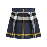 Burberry BurberryGirls Navy Check Kittie Skirt