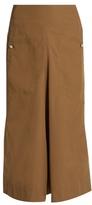 Lemaire A-line cotton-blend skirt