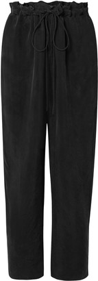 Sally LaPointe Washed Crepe Straight-leg Pants