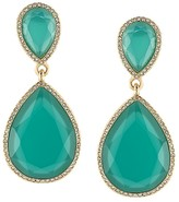 ABS by Allen Schwartz Faceted Double Drop Earrings