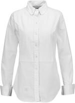 Thom Browne Pintucked cotton-poplin shirt