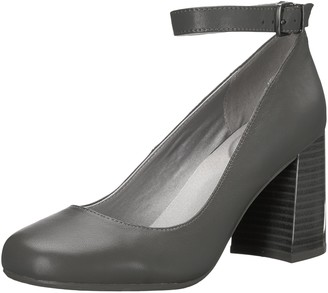 Kenneth Cole Reaction Women's Happy-Ness Round Toe Flared High Heel Ankle Strap Dress Pump
