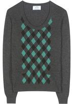 Prada Argyle cashmere sweater