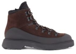 HUGO BOSS Hiking-inspired boots in mixed leather