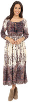 Brigitte Bailey Olivia Long Sleeve Printed Maxi Dress