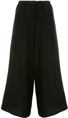 Dusan Cropped Crepe De Chine Trousers