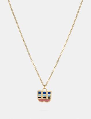 Coach 80'S Retro Alphabet W Charm Necklace