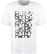 Dkny Relaxed Fit Print Tshirt White