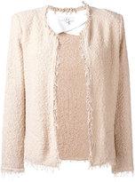 IRO frayed jacket - women - Cotton/Polyamide - 36