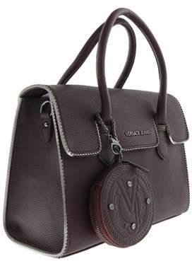 Versace Ee1vqbbh6 E331 Structured Silhouette- Top Handle Satchel Magenta Bis Satchel Bag.