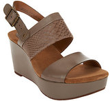 Clarks Artisan Leather Multi-strap Wedge Sandals - Caslynn Kat