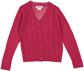 Pink Angel Cherry Cardinal Cable-Knit Cardigan - Infant Toddler & Girls