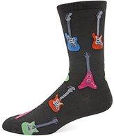 Hot Sox Men's Electric Guitars Crew Sock